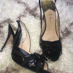 COLE HAAN Black Slingback heels! 10B!